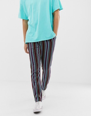 ASOS DESIGN tapered pants in abstract design