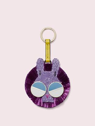 Kate Spade Spademals Raffia Money Bunny Dangle Keychain
