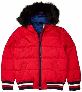 Tommy Hilfiger Women's Adaptive Puffer Jacket with Faux Fur Hood and Magnetic Zipper