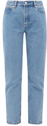 A.P.C. Straight-leg Stonewashed Jeans - Womens - Light Denim