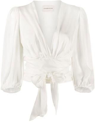 Alexandre Vauthier tie knot cropped blouse