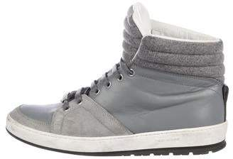 Christian Dior Leather High-Top Sneakers
