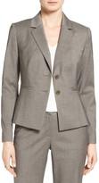 Classiques Entier Two-Button Melange Suit Jacket
