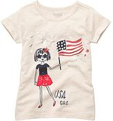 Osh Kosh USA Girl Graphic Tee - Girls 4-6x