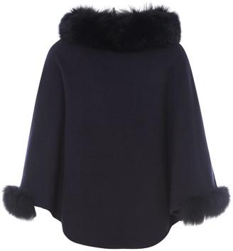 Max Mara Fur Collar Cape