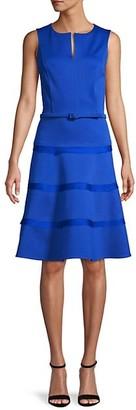 Oscar de la Renta Wool-Blend Ruffled A-line Dress