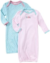 Gerber 2 Pack Lap Gown - Love (Baby) - Pink-0-6 Months