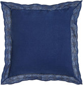 "Ralph Lauren Home 18""Sq. Blue Pillow with Eyelet Flange"