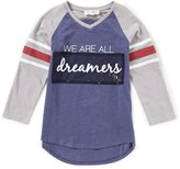 Jessica Simpson Big Girls 7-16 Neco V-Neck Dreamers Tee