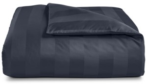 """Charter Club Damask 3"""" Stripe Full/Queen Duvet Cover, 100% Supima Cotton 550 Thread Count, Created for Macy's Bedding"""