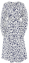 Tibi Cheetah-Print Silk Dress