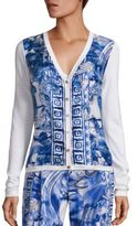 Versace Long-Sleeve Printed Cardigan