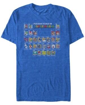 Nintendo Men's Super Mario The Super Periodic Table Short Sleeve T-Shirt