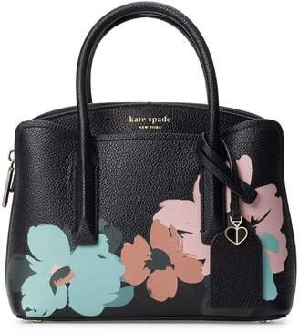 Kate Spade Mini Margaux Brush Bloom Leather Satchel
