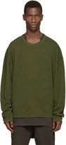 Yeezy Green Waffle Cotton Thermal T-Shirt