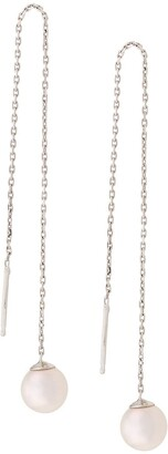 Redline 18kt white gold Sensuelle akoya pearl chain earrings