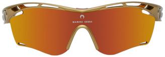 Marine Serre Orange Rudy Project Edition Moon Trylex Sunglasses