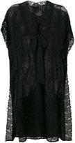 Twin-Set front bow lace jacket - women - Silk/Polyamide/Polyester - XXS