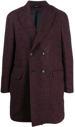 Ermenegildo Zegna Fine Check Double Breasted Coat