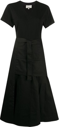 3.1 Phillip Lim V-neck belted midi-dress