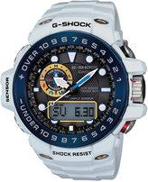 G-Shock Men's Analog-Digital Gulfmaster White Resin Strap Watch 45x56mm GWN1000E-8A