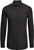 Poplin Stretch Jim Shirt In Black
