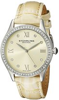 Stuhrling Original Women's 431.03 Vogue Swiss Quartz Crystals Champagne Watch