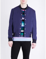 Kenzo Embroidered Cotton-twill Bomber Jacket