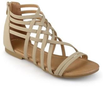 Brinley Co. Wide Width Strappy Gladiator Flat Sandals (Women's)