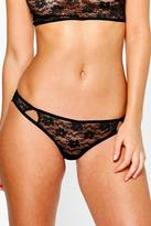 Boohoo Isla Black Lace Cut Out Detail Thong