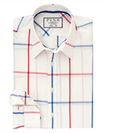Thomas Pink Hollman Check Classic Fit Button Cuff Shirt