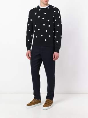 Ami Paris dots embroidery sweatshirt