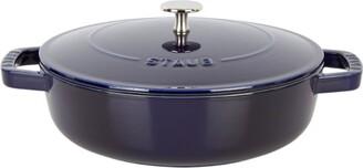 Staub Blue Round Chistera Braiser Saute Pan (24Cm)