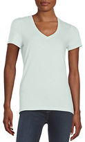 Lord & Taylor Petite Cotton Blend V-Neck Tee