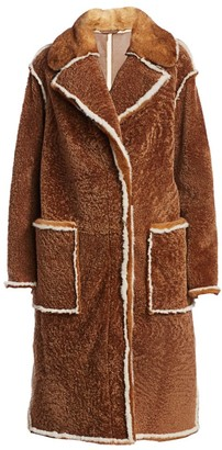 The Fur Salon Julia & Stella For Mink Fur-Trim Shearling Collared Coat
