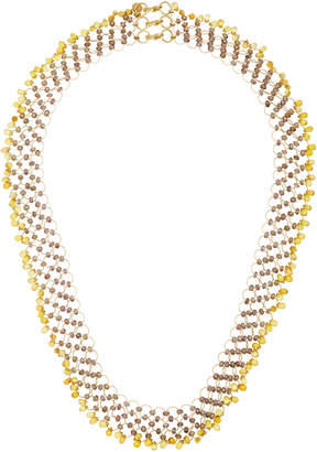 Mallary Marks Kaleidoscope 18K Gold, Spinel and Sapphire Necklace