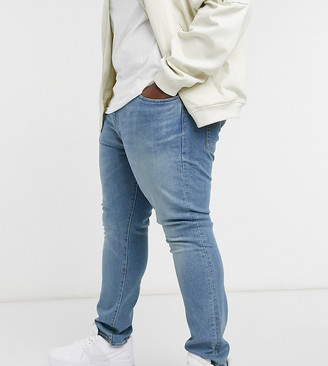 Levi's Big & Tall 512 slim tapered fit jeans in pelican rust mid wash
