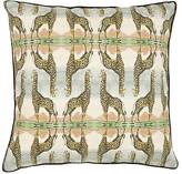Patch NYC Giraffe-Print Linen-Cotton Pillow
