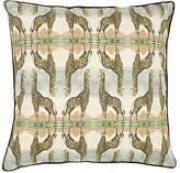 Patch NYC Giraffe-Print Linen-Cotton Pillow