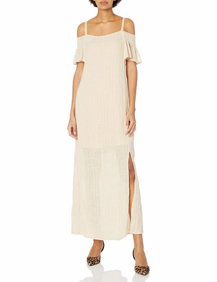 Moon River Women's Cold Shoulder Maxi Knit Dress