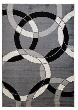 "Geometric Tufted Gray Indoor / Outdoor Area Rug Orren Ellis Rug Size: Runner 2'7"" x 7'3"""