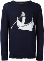 Christian Pellizzari boat intarsia jumper - men - Cotton - 46