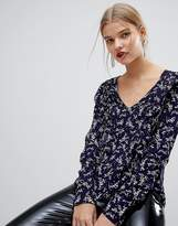 MANGO All Over Floral Frint Blouse