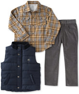 Calvin Klein 3-Pc. Vest, Plaid Shirt & Corduroy Pants Set, Toddler Boys (2T-5T) & Little Boys (2-7)