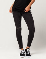 INDIGO REIGN Fray Ankle Womens Skinny Jeans