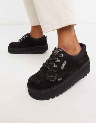 Kickers Kick Lo Cosmik chunky shoes in black