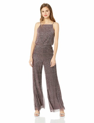 Cupcakes And Cashmere Women's campell Shimmer Wide Leg Jumpsuit