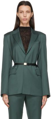 LVIR Green Belted Classic Blazer
