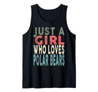 Retro Just a Girl Who Loves Polar Bears 80's 90's Vintage Tank Top