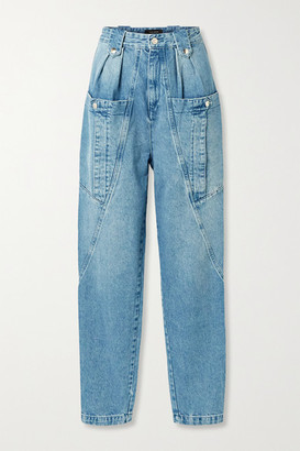 Isabel Marant Kerris High-rise Tapered Jeans - Light blue